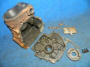 Tecumseh Hh100 Engine Block W Side Cover And Other Parts 10hp 1971 John Deere 112