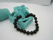 And Co Signed Paloma Picasso Sterling Silver 18mm Black Onyx Bead Necklace