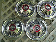 4 Vintage 66 67 68 Galaxie Ford Pickup Truck Bronco Hubcaps Wheel Covers 4+4
