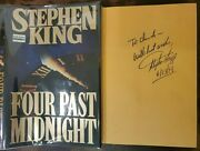 Signed Stephen King Four Past Midnight Hardcover Book Dj True 1st Inscribed Date