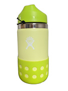 Kids Wide Mouth Bottle With Straw Lid And Boot By Hydro Flask, 12 Oz Honeydew