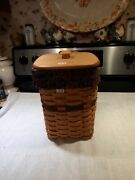 1995 Longaberger Fathers Day Mini Waste Basket Rare New From Old Dealer Stock