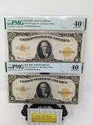1922 Consecutive 10 Gold Certificates. High Grade Pmg 40 And Pmg 40epq Fr1173