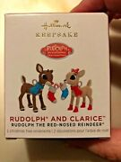 Hallmark Rudolph And Clarice Miniature 2021 Set Of2 Ornaments -new And Sold Out