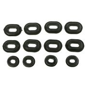 12pcs Grommets Black Bolt For Most Motorcycles Kits Hot Sale High Quality
