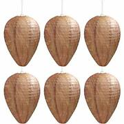 6 Pack Wasp Nest Decoy Safe Hanging Wasp Deterrent For Hornets Yellow Jackets