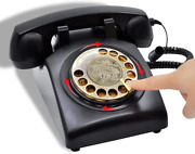 Irisvo Retro Rotary Phones For Landline Corded Phone Old Fashioned Rotary Dial