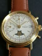 Very Rare Ribali Valjoux 7768 Nos Date / Moon Phase Swiss Made 🚚 Fast And Free