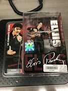 Elvis Presley 1968 Comeback Special 2004 Figure With Stage Mic Stand Chair