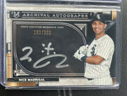Nick Madrigal 2021 Topps Museum Collection Archival Silver On-card Auto Rc /200