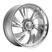 Dropstars 658bs 22x9 6x135 Et18 Silver/brushed Face And Polished Lip Qty Of 4