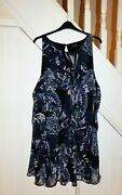 Yours Plus Size - Size 30/32 - Sleeveless Patterned Lined Tunic Style Dress