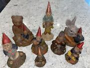 Lot Of 8 Signed Tom Clark Gnomes With Certificates Of Authenticity