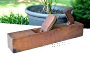 Antique Wood Plane Collectible Hand Tool Solid Wood Handmade Carpenter Vintage