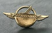 Piedmont Airlines Sterling Lapel Pin Wings Service Sterling Trademark Pilot Crew