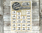 Davis Gould And Co Carriages Poster Original 1800s Cincinnati Oh Advertising Sign
