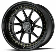 19x11 Gloss Black Wheels Aodhan Ds08 Ds8 5x114.3 15 Set Of 4 73.1