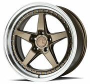19x11 Bronze Wheels Aodhan Ds05 Ds5 5x114.3 15 Set Of 4 73