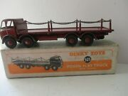 Dinky Foden Flat Truck With Chains No 505 1st Type Boxed Rare
