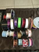 Mcginley Satin Ribbon Lot With Other Brands - New And Pre-owned 28 Rolls See Pic
