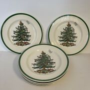 Spode China Christmas Tree 10 3/4 Dinner Plate Made In England Set Of 9