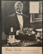 1948 Walkers Deluxe Bourbon Whiskey Print Ad Waiter