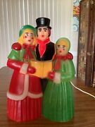 Vintage Empire Victorian Dickens Carolers Christmas Blow Mold With Light