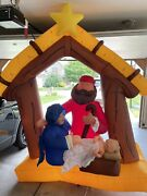 Gemmy 9ft Holy Family Nativity Manger Inflatable Airblown Christmas