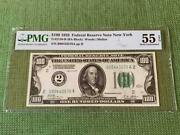 ⭐numeric Seal Gold Clause⭐ 1928 100 New York Pmg Almost Uncirculated 55epq C2c