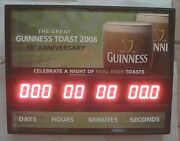 Guinness Beer Electronic Led Count Down Clock - 15th Anniversary 2008 - New-rare