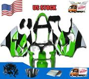 Injection Green Fairing Fit For Kawasaki 2000 2002 Zx6r And Zzr600 2005-2008 A016a