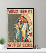 Poster 24x36 Vintage Poster Wild Heart, Gypsy Soul Poster -home Decor - No Frame