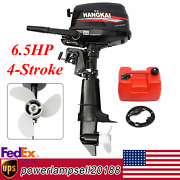 Hangkai 6.5hp 4-stroke Outboard Motor Marine Boat Engine W/ Water Cooling And Cdi