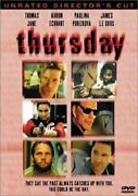 Thursday Dvd, 2000, Unrated Directors Cut Thomas Jane Skip Woods