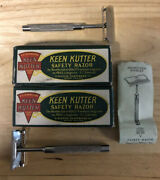 2 Old Keen Kutter Safety Razor In Original Box,instructions,+2 Others