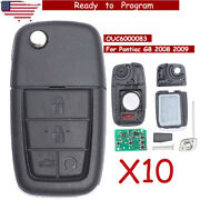 10 Replacement Folding Remote Key Fob 315mhz 4+1 Button For Pontiac G8 2008 2009