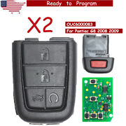 2x Replacement Folding Remote Key Fob 315mhz 4+1 Button For Pontiac G8 2008 2009