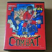 Snk Neo Geo Aes Ninja Combat Used Boxed With Manual Very Good Condition Tested