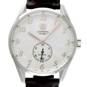 Tag Heuer Carrera Was2112.fc6181 Automatic Silver Brown Ss Leather Round Men 173
