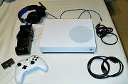 Microsoft Xbox One S All-digital Edition 1tb Controller Charger Headphones