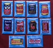 2021 Garbage Pail Kids Food Fight Wacky Packages Patch Set 10💥rare Set💥