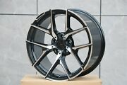 20 Mercedes Benz New Y Spoke Style Black Machined Fits S550 S500 S430 Staggered