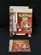 Pokemon Ruby Version Outerbox And Manual Only - Gba No Game Included