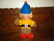 Antique Melody Toys Elf Gnome Character Doll Rubber Face Plush Body 11 Inch