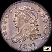1821 Capped Bust Dime Pcgs Ms 62 Ogh Toned