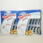 Lot Of 2 Smart Planet Hostess Twinkies Bake Set W/pastry Bag And Recipe Booklet