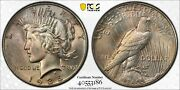 1935-p Peace Silver Dollar - Pcgs Ms-66 - Lovely Bag Toning
