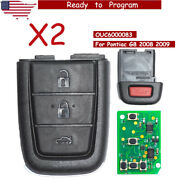 2 Replacement Folding Remote Key Fob 315mhz 3+1 Button For Pontiac G8 2008 2009