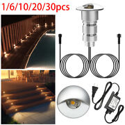 Andphi26mm Half-moon Recessed Outdoor Led Deck Step Stair Light Yard Path Garden Lamp