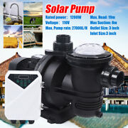 1200w Dc Solar Pump In-ground Swimming Pool Pump Clean Spa Brushless Motor Us